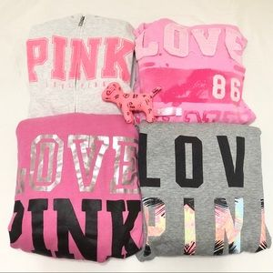 Set of 4 VS PINK Hoodies